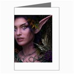 Gothic Faery Elf Woman Fantasy at Night Greeting Card