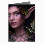 Gothic Faery Elf Woman Fantasy at Night Greeting Cards (Pkg of 8)