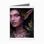 Gothic Faery Elf Woman Fantasy at Night Mini Greeting Card