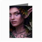 Gothic Faery Elf Woman Fantasy at Night Mini Greeting Cards (Pkg of 8)
