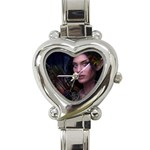 Gothic Faery Elf Woman Fantasy at Night Heart Italian Charm Watch