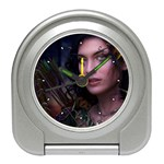 Gothic Faery Elf Woman Fantasy at Night Travel Alarm Clock