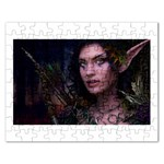 Gothic Faery Elf Woman Fantasy at Night Jigsaw Puzzle (Rectangular)