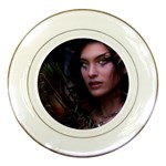 Gothic Faery Elf Woman Fantasy at Night Porcelain Plate