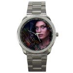 Gothic Faery Elf Woman Fantasy at Night Sport Metal Watch