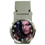 Gothic Faery Elf Woman Fantasy at Night Money Clip Watch