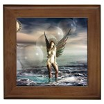 Gothic Angel in Future Fantasy World Framed Tile