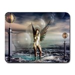 Gothic Angel in Future Fantasy World Small Mousepad