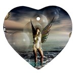 Gothic Angel in Future Fantasy World Ornament (Heart)