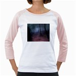 Gothic Dark Forest with Night Fog Girly Raglan