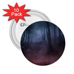 Gothic Dark Forest with Night Fog 2.25  Button (10 pack)