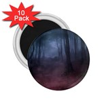 Gothic Dark Forest with Night Fog 2.25  Magnet (10 pack)