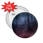 Gothic Dark Forest with Night Fog 2.25  Button (100 pack)