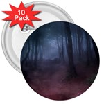 Gothic Dark Forest with Night Fog 3  Button (10 pack)