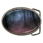 Gothic Dark Forest with Night Fog Belt Buckle