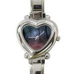 Gothic Dark Forest with Night Fog Heart Italian Charm Watch