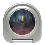 Gothic Dark Forest with Night Fog Travel Alarm Clock