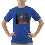 Gothic Dark Forest with Night Fog Dark T-Shirt