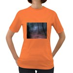Gothic Dark Forest with Night Fog Women s Dark T-Shirt