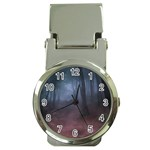 Gothic Dark Forest with Night Fog Money Clip Watch
