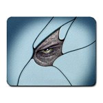 Goth Demon Snake Eye Breaking Through Small Mousepad