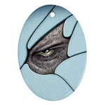 Goth Demon Snake Eye Breaking Through Ornament (Oval)