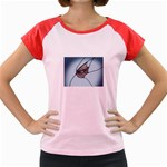 Goth Demon Snake Eye Breaking Through Women s Cap Sleeve T-Shirt