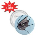 Goth Demon Snake Eye Breaking Through 1.75  Button (10 pack)