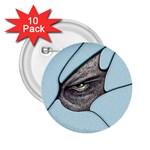Goth Demon Snake Eye Breaking Through 2.25  Button (10 pack)