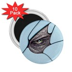 Goth Demon Snake Eye Breaking Through 2.25  Magnet (10 pack)