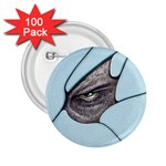 Goth Demon Snake Eye Breaking Through 2.25  Button (100 pack)