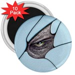 Goth Demon Snake Eye Breaking Through 3  Magnet (10 pack)