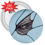 Goth Demon Snake Eye Breaking Through 3  Button (100 pack)