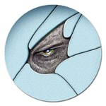 Goth Demon Snake Eye Breaking Through Magnet 5  (Round)