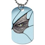 Goth Demon Snake Eye Breaking Through Dog Tag (One Side)