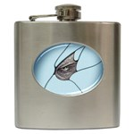 Goth Demon Snake Eye Breaking Through Hip Flask (6 oz)