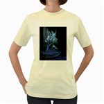 Gothic Blue Ice Crystal Palace Fantasy Women s Yellow T-Shirt