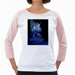 Gothic Blue Ice Crystal Palace Fantasy Girly Raglan