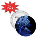 Gothic Blue Ice Crystal Palace Fantasy 1.75  Button (10 pack)