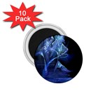 Gothic Blue Ice Crystal Palace Fantasy 1.75  Magnet (10 pack)