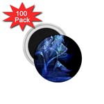 Gothic Blue Ice Crystal Palace Fantasy 1.75  Magnet (100 pack)
