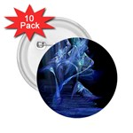 Gothic Blue Ice Crystal Palace Fantasy 2.25  Button (10 pack)