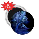 Gothic Blue Ice Crystal Palace Fantasy 2.25  Magnet (10 pack)