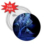Gothic Blue Ice Crystal Palace Fantasy 2.25  Button (100 pack)