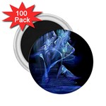 Gothic Blue Ice Crystal Palace Fantasy 2.25  Magnet (100 pack)