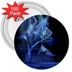 Gothic Blue Ice Crystal Palace Fantasy 3  Button (100 pack)