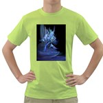 Gothic Blue Ice Crystal Palace Fantasy Green T-Shirt