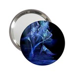 Gothic Blue Ice Crystal Palace Fantasy 2.25  Handbag Mirror