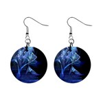 Gothic Blue Ice Crystal Palace Fantasy 1  Button Earrings