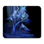 Gothic Blue Ice Crystal Palace Fantasy Large Mousepad